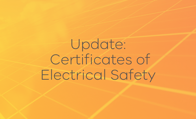 Update: certificates of electrical safety