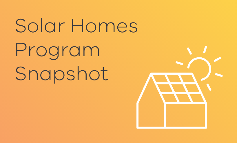 Solar Homes Program Snapshot card